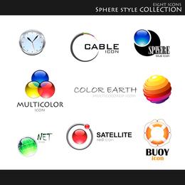 Conjunto de logotipo gráfico vectorial