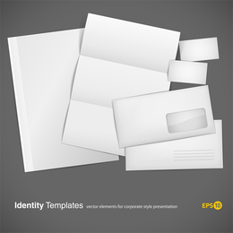 Blank Cards Envelopes Papelaria Vector
