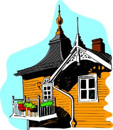 Varios vectores de edificios bien conocidos de la ciudad