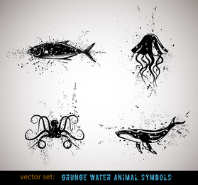 Ink Animals Vector 4