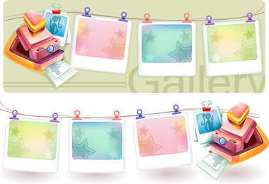 Dream Polaroid Camera And Photo Frame Vector