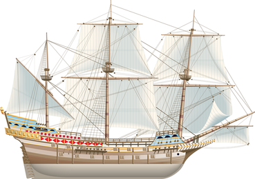 Ancient Sailing Vector