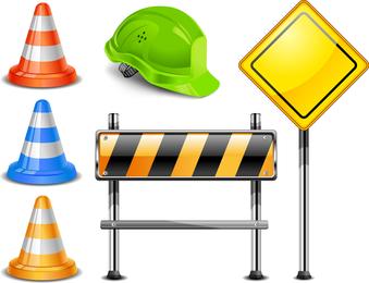 Vector de señales de barricada