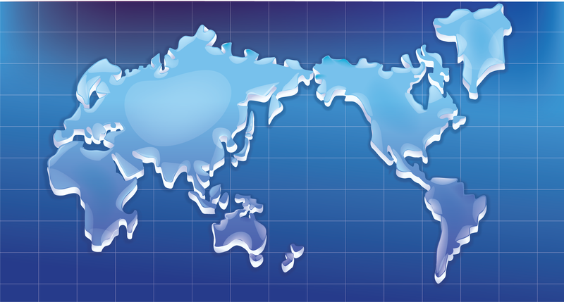 Textura cristalina del vector mapa mundial
