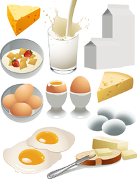 Desayuno nutritivo Vector