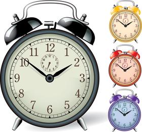 Conjunto de design de alarme do relógio