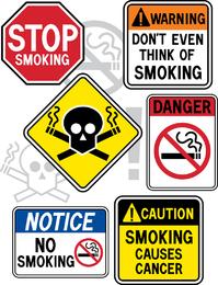 Não fumar vetor de tema