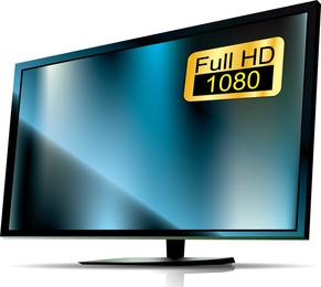 Fernsehapparate Und Monitore 01 Vektor