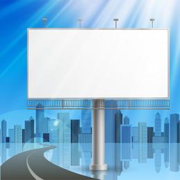 Outdoor Advertising Billboard Model 05 Vector