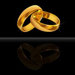 Anillo de boda Vector 3