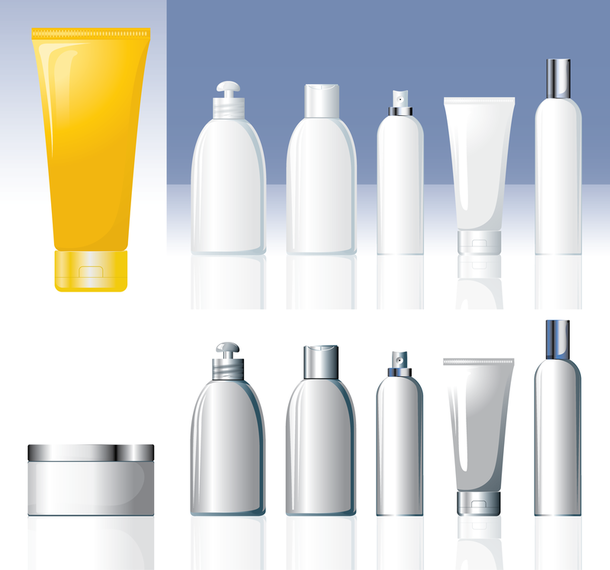 Cosmetic Container 03 Vector