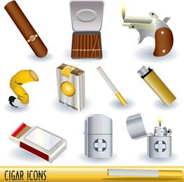 Encendedores de cigarrillos vector serie