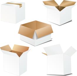 Vetor em branco da caixa de papelão
