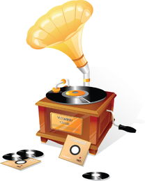 Gramophone Classical Vector