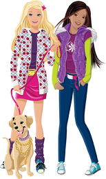 Set Of Vector Fashion Girl