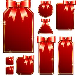 Vector vermelho cartão de presente