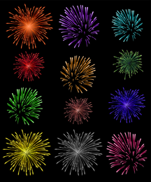 10 fogos de artifício brilho