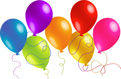 Beautifully Colored Balloons 01 Vector