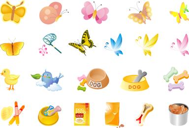 Animais De Pequeno Porte E Pet Food Vector