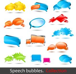 Vector de burbuja de diálogo Logo