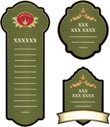 Variedade De Frascos De Etiquetas Apostas Práticas Vector