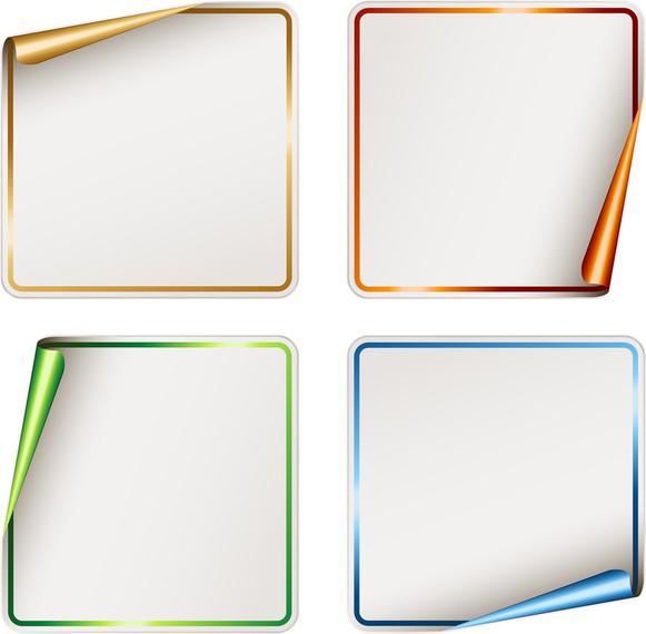 Vector Blank Stickers - Vector download