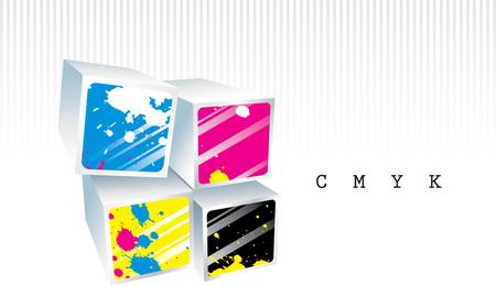 Simple y elegante caja tridimensional 02 Vector