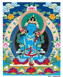 Dharmakaya Vajradhara Thangka Vector Ai Desprezo Para Aqueles Que Afirmam Direitos Autorais