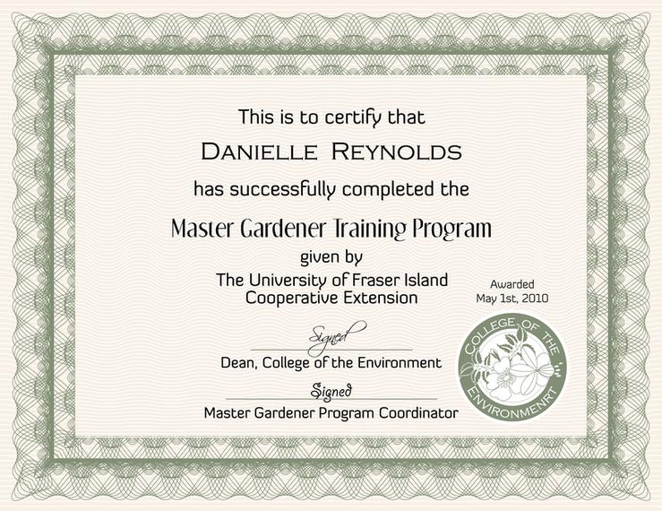 Vetor de projeto de seis certificados