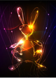 Sinfonia de gráficos vetoriais legal de luz
