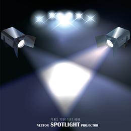 Vetor de projetor de luz