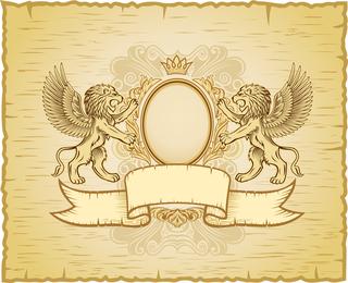 Lion Shield Vector 2