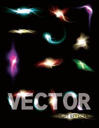 Lindo brilhante efeitos de iluminação 03 Vector