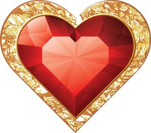 Vector romántico elemento rojo