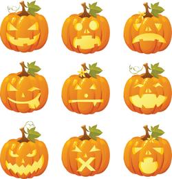 Smiley de calabaza de Halloween gratis Vector