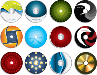 Cd Labels Vector Graphic Set