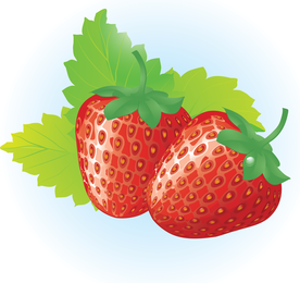 Free Fresh And Tasty Strawberries Vector Illustration