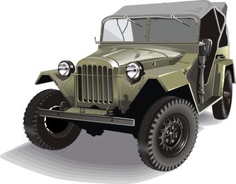 Free Vector Retro Army Jeep Gaz 67b