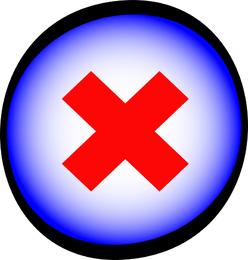 Botão azul de exclusão