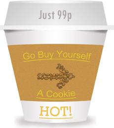 Taza de café para ir de diseño.