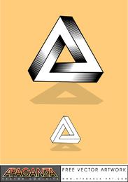 Unmögliches Dreieck-Kit