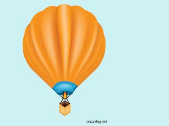 Ilustración de globo de aire caliente