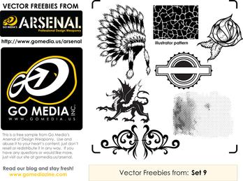 Muestra gratuita de Gomedia Vector Pack 9