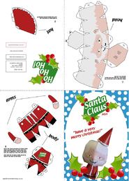 Paquete de papel artesanal de Papá Noel