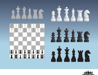 Ilustrações de xadrez