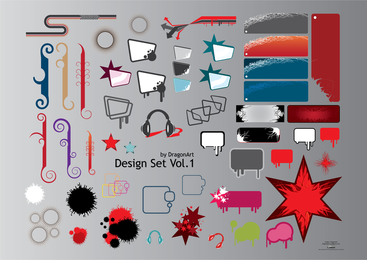 Set of random design elements