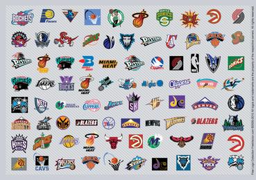 Logotipos de los equipos de la NBA
