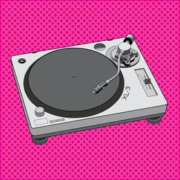 Design de plataforma giratória para equipamentos de DJ