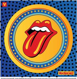 Rolling Stones Lippen Logo