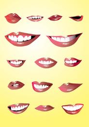 Lippen eingestellt